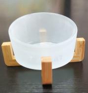 Glass oblique bowl cat bowl