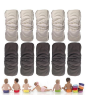Baby five-layer bamboo cotton drawstring diapers