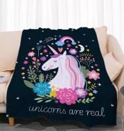 Unicorn coral fleece air conditioning blanket customization