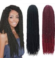 Dirty braid hair extension four-strand braid wig