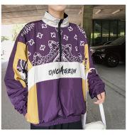 Retro street hip hop track jacket