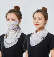 Summer sunscreen chiffon mask female big scarf chiffon scarf