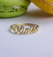 Customized English alphabet name ring
