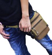 Cycling nylon waist leg bag
