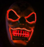 Halloween Led Mask Party Masque Masquerade Masks Neon Maske Light Glow In The Dark Mascara Horror