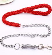 Hand-woven pet leash