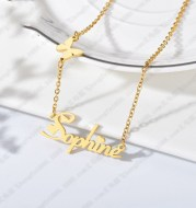 Stainless steel number and alphabet name pendant