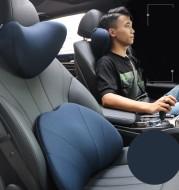 Car headrest and neck pillow