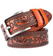 Carved craft men's belt