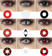 Write Round Eyes Naruto Cosmetic Contact Lenses