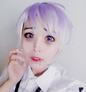 Gradient color cosplay wig
