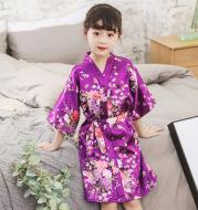 Cardigan imitation silk bathrobe