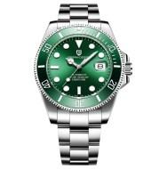 Fashion waterproof stainless steel calendar watch