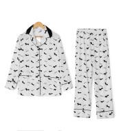 Cartoon Dog Print Long Sleeve pants pajamas