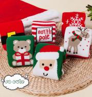 Christmas striped children's socks