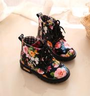 Girls Floral Martin Boots