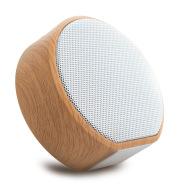 Wood grain bluetooth speaker