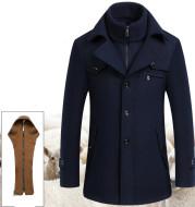 Wool jacket men's woolen coat