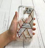 Marble geometric phone case