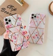 Stitching retro flower phone case