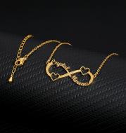 8 word pendant clavicle chain