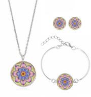 Mandala Flower Time Gemstone Necklace