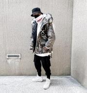 Ink-splash cotton jacket