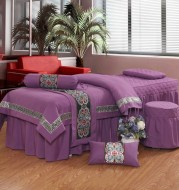Four-piece high-end pure color beauty bedspread