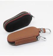 Car key bag universal leather zipper key pack