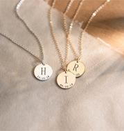 Lettering pendant necklace