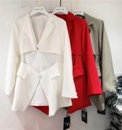 Irregular suit with waist