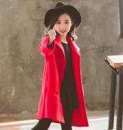 Korean winter mid-length children's woolen coat