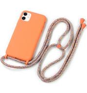 Liquid silicone lanyard phone case