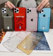 Transparent card holder phone case