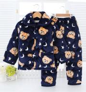 Children's warm pajamas set