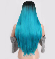 Women's fake long straight hair