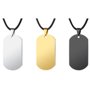 Polished Army Necklace
