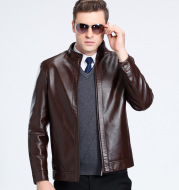 Sheepskin spring and autumn Lapel leather jacket