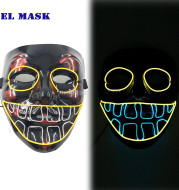 Halloween Glowing Mask Sound Activated Light Up Scary Mask