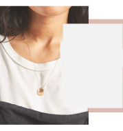 Titanium steel necklace rose gold clavicle chain