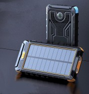 New solar wireless power bank Outdoor PD fast charging ultra-large capacity 20000 mAh power bank
