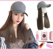 Cap with fake hair