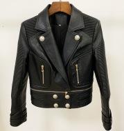Women's motorcycle leather jacket