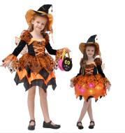 Halloween Children Costume Cosplay Witch Princess Dress