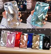 Rhombus mirror phone case