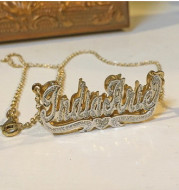 Copper letter name necklace