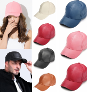 Four Seasons  trendy cap outdoor PU light baseball cap