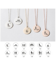15MM round gold-plated necklace