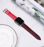 Top layer leather watch strap
