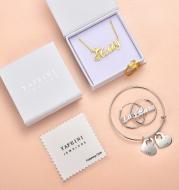 Custom Hoop Earrings Name Letter Stainless Steel Gold Color